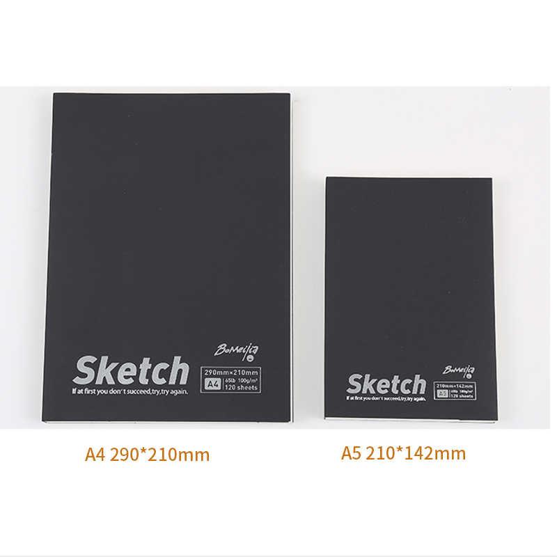 A4/A5 Schizzo 120 Lenzuola Libro di Cancelleria Vintage Notebook Notepad Sketch Book Per Paiting Disegno Regali Creativi Rifornimenti di Arte