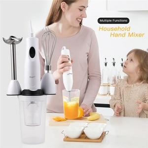 4 in 1 Electric Hand Blender Food Mixer Egg Meat Grinder Kitchen Detachable Baby Food Grinder Stick Fruit Juicer Vegetable