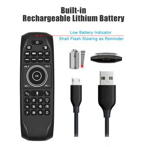 Image 3 - L8star G7 Voice Remote Mouse Russische Keyboard 5 Ir Leren Toetsen 2.4G Voice Draadloze Backlit Keyboard Air Mouse Met gyroscoop