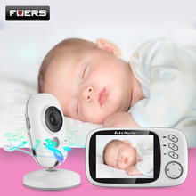 Fuers 3.2 inch Wireless Video Color Baby Monitor High Resolution Baby Nanny Security Camera Night Vision Temperature Monitoring