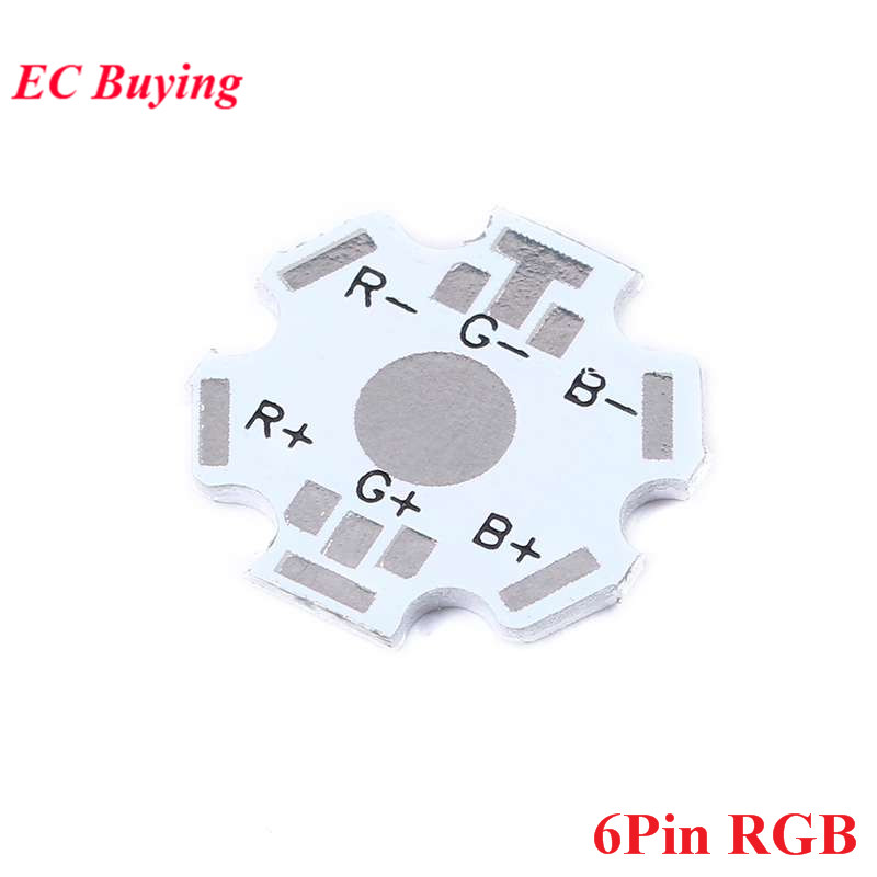 10pcs 1W 3W 5W Heatsink Heat Sink LED Aluminum Base Plate RGB RGBW LED PCB Board For Cooling Heatsink LED Diode 6P 6Pin 6 Pin
