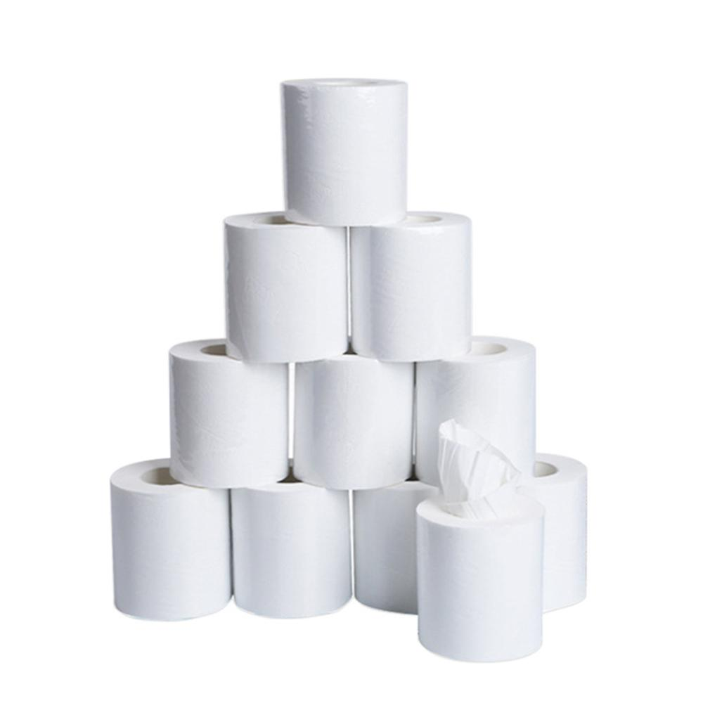 10Rolls White Napkin Roll Paper ,Home Household Thicken Bath Toilet Paper Soft