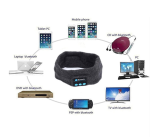 Image 4 - Winter Knitting Music Headband Headset W/ Mic Wireless Bluetooth Earphone Headphone for Running Yoga Gym Sleep Sports Earpiece
