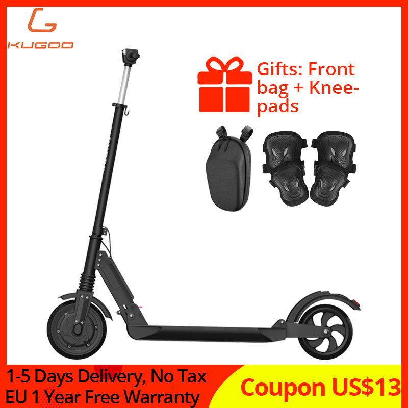 EU stock No tax KUGOO S1 350W Electric Scooter Adult Folding Speed Electric Scooter 3 Speed Modes 8'' IP54 30KM 1-5day Delivery