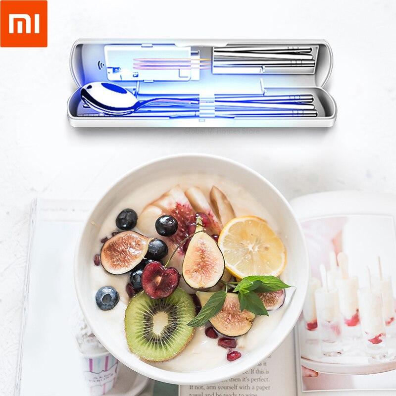 Xiaomi Youpin Tidytech baguettes portables, couteaux et fourchettes ensemble trois pièces voyage stérilisateur Ultraviolet charge solaire 35