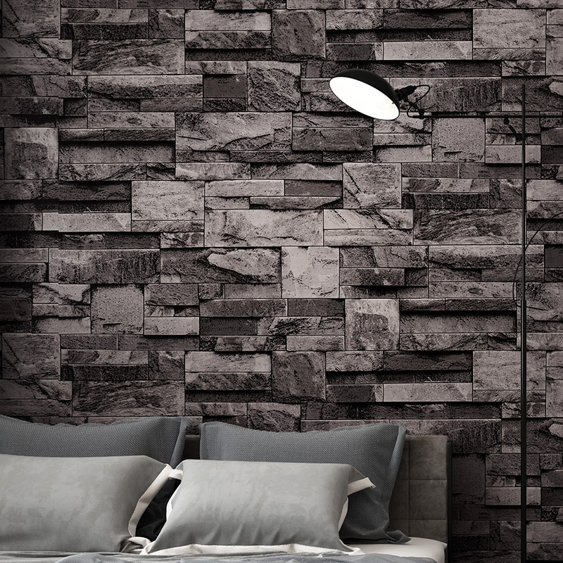 3D Faux Marble Brick Pattern Wallpaper Waterproof PVC Clothing Store Restaurant Hotel Decoration Wallpaper Manufacturers Direct