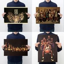 Famoso estrela de basquete 97 golden generation kobe karl malone retro kraft papel poster bar café nostálgico pintura decorativa