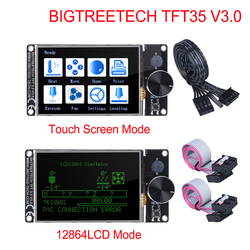Bigtreetech tft35 v3.0 tela sensível ao toque/12864lcd 32bit peças de impressora 3d wifi vs mks tft35 para ender 3/5 skr v1.3 pro placa