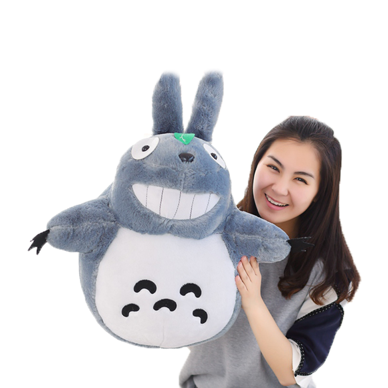 1pcs 50CM Famous Cartoon Totoro Plush Toys Smiling Soft Stuffed Toys High Quality Dolls Factory Price Home Decoration Gift