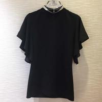 Women T shirt Summer Diamonds O neck Short Butterfly Sleeve Casual T shirt For Lady Fashion New Women Tops