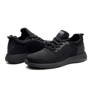Image 5 - Men Breathable Safety Shoes Steel Toe Black Work Shoes Wearproof Sneakers Large Size 36 48