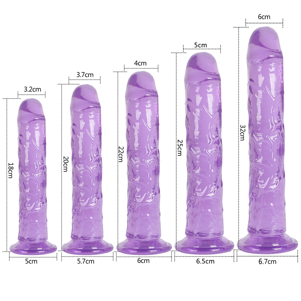 Dildo Toy for Adult Erotic Soft Jelly Strong Suction Cup Dildo Anal Butt Plug Realistic Penis G-spot Orgasm Sex Toys for Woman