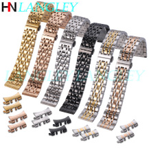 Solid 304L Stainless Steel Replacement Watch Band 12 14 16 17 18 19 20 21 22 23 24mm Width Wristband Watch Straps