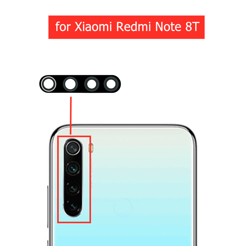 2pcs for Xiaomi Redmi Note 8T Back Camera Glass Lens Rear Camera Glass with 3M Glue Redmi Note8T Replacement Repair Spare Part(China)