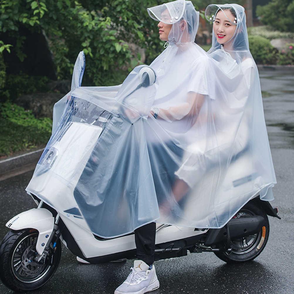 Women Men Portable Waterproof Outdoor Riding Poncho Rainwear Hooded Raincoat Hot