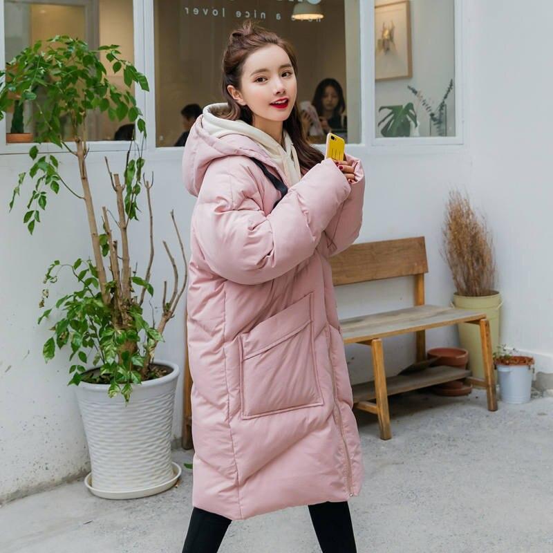 Пуховая куртка с хлопковой подкладкой для женщин размера плюс, Зимняя женская куртка с капюшоном, женские зимние пальто, парки, плотное теплое пальто для женщин C5950 - 4