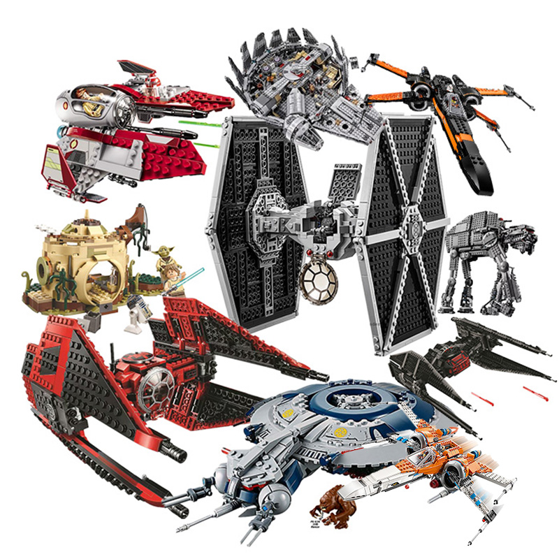 New Star Tie Fighter MicroFighters Wars The Rise Of Skywalker Building Blocks Lepining StarWars 75257 75240Toys For Children