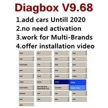 Mais novo lexia 3 diagbox v9.68 adicionar carros até 2020 nenhuma ativação da necessidade para citroen/peofull atualizações completas versão diagbox v8.55 v7.83