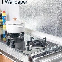 Waterproof Stickers Wallpaper Kitchen-Stove Cabinet Self-Adhesive Aluminum-Foil Multi-Size