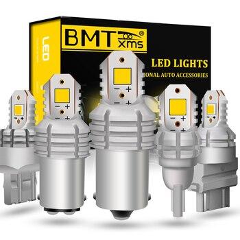 BMTxms 2x Canbus luces LED de coche DRL día inversa BA15S BAY15D T20 7440 7443 T15 W16W 1156 1157 P21W blanco bombillas