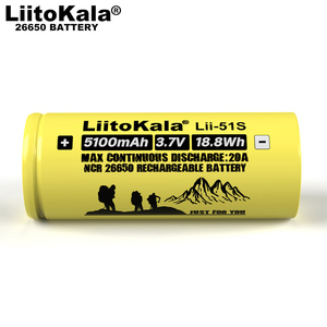 Image 3 - 1 10 個 liitokala LII 51S 26650 20A 電源充電式リチウムバッテリー 26650A 、 3.7 v 5100mA。適切な懐中電灯