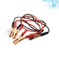 Cable de emergencia de alimentación de batería de coche, 2,2 M, 500A, Cable de alimentación de línea de arranque de salto, Clip de cobre, Cable de refuerzo de abrazadera (negro y rojo)