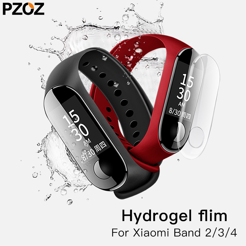 PZOZ Hydrogel Film For Xiaomi Mi Band 4 3 2 Smart Wristband Full Screen Protector Film For Xiaomi Mi Band 3 2 HD Curve Edge Film