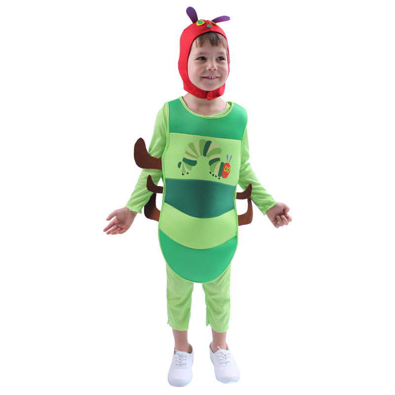 Kids Lovely Very Hungry Caterpillar Fancy Dress Halloween Cosplay Carnival Costume