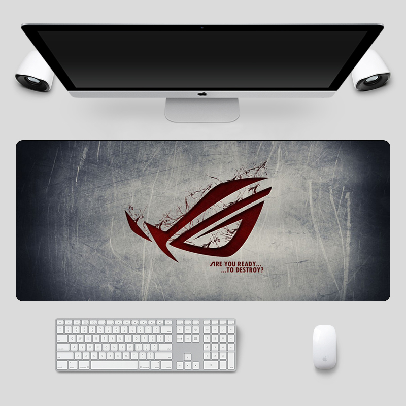 Fashion 90x40cm Large ASUS Gaming Mousepad  Republic Of Gamers Keyboard Pad  Locking Edge Rubber Laptop Notebook Desk Mat