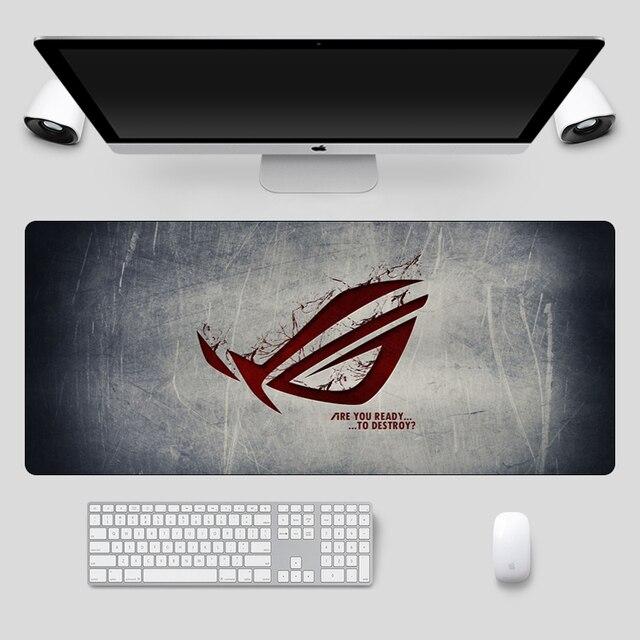 Fashion 90x40cm Large ASUS Gaming Mousepad  Republic Of Gamers Keyboard Pad  Locking Edge Rubber Laptop Notebook Desk Mat