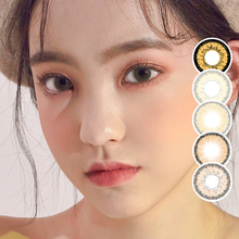 Colored Contact Lenses Brown Two Piece Contact Lenses For Eyes Color Yearly Colored contacts lenses Brown contact lens for eyes cheap hidrocor 14 2 Two Pieces 0 06-0 15 mm PHEMA Beautiful Pupil MCS-BROWN 8 6 mm Yearly Disposable Contacts Circle Color Lenses