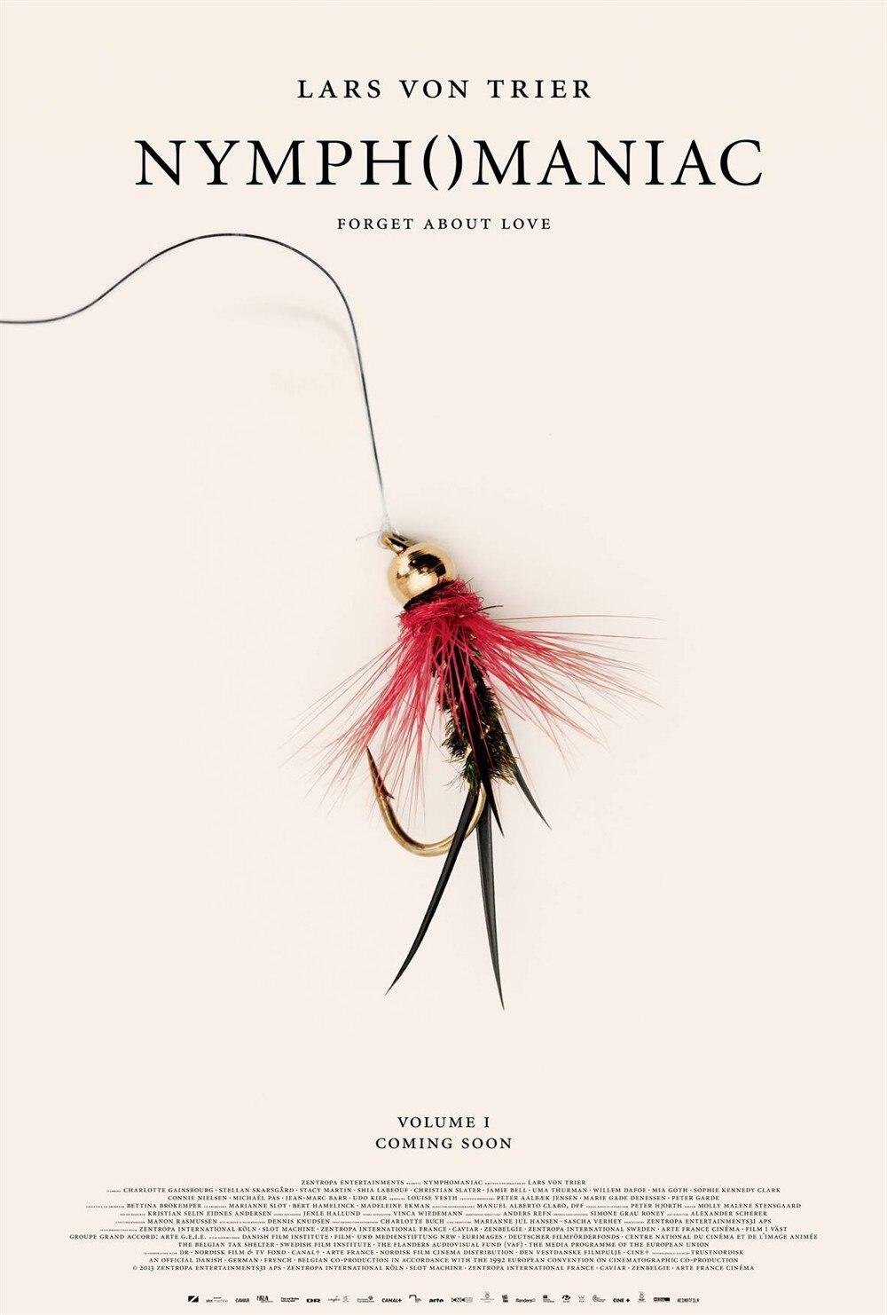 NYMPHOMANIAC фильм Кристиан Слейтер ума Турман Шелковый плакат декоративной живописи 24x36 дюймов - Цвет: Светло-желтый