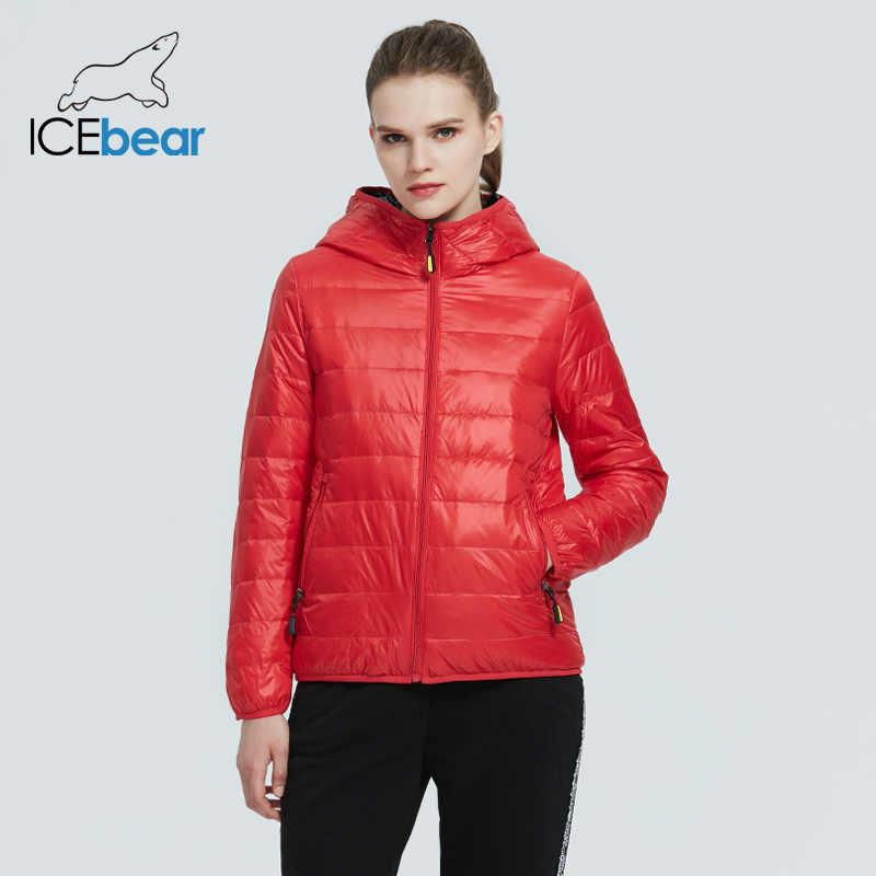 ICEbear 2020 새로운 여성 경량 다운 재킷 세련된 캐주얼 봄 재킷 브랜드 의류 GWY19151D