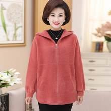 2020 novas mulheres casaco de inverno feminino vison cashmere quente solto de pelúcia com capuz grosso casaco de pele de pelúcia casaco camisola plus size 5xl a77