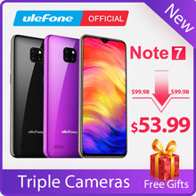 Ulefone Note 7 Smartphone 3500mAh 19:9 Quad Core 6.1inch Waterdrop Screen 16GB ROM Mobile phone WCDMA Cellphone Android8.1(China)