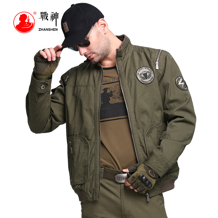 Army Fans Supplies 2019 New Style Autumn Clothing Stand Collar MEN'S Jacket Outdoor Large Size Long-sleeved Coat MEN'S Work Jack