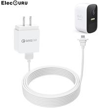 Eufy – câble de caméra 2C/2C Pro, 30ft/9m, cordon dalimentation de charge étanche, avec adaptateur mural US/EU/UK