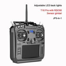 Jumper t18 pro rádio controlador remoto JP5 in 1 rdc90 sensor multi protocolo módulo rf opentx (t18 com cardan hall)