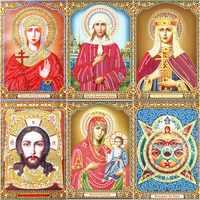 Voll Platz Diamant Malerei Religiöse DIY Diamant Stickerei Religion Symbol Bild Von Strass Diamant Mosaik Madonna