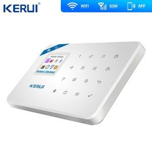 Image 3 - Kerui W18ワイヤレスwifi gsm警報ios androidアプリ制御gsm sms無線lanホーム盗難警報システムペット免疫運動ペットモーション