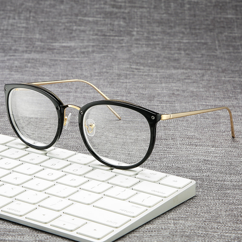Imwete Fashion Finished Myopia Glasses Women Classic Square Gold Alloy Frame Men Spectacles For Unisex -1.0 To 5.0
