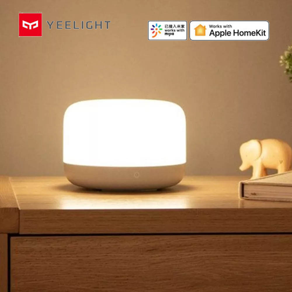 Xiaomi Yeelight 5W LED lampe de chevet coloré Intelligent Dimmable veilleuse WIFI APP commande vocale pour Apple Kit maison YLCT01YL