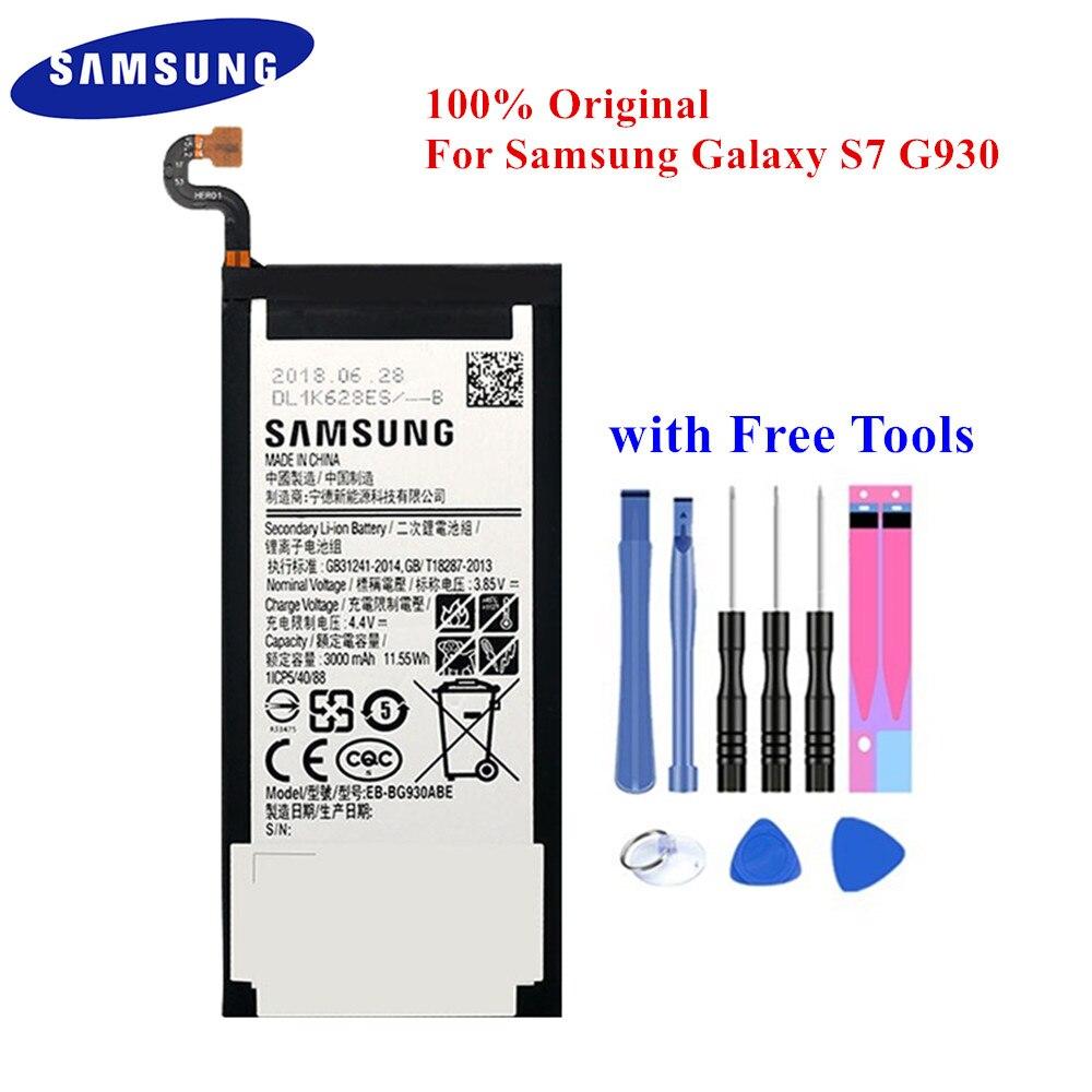 100% Original Battery EB-BG930ABE For Samsung Galaxy S7 SM-G930F G930FD G930W8 G930A G930V G930T G930FD G9300 3000mAh Akku