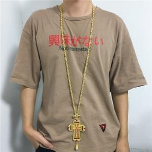 Золотой грудной крест христианская церковь colden жрец распятие ортодоксальный подарок на крестины религиозные иконы