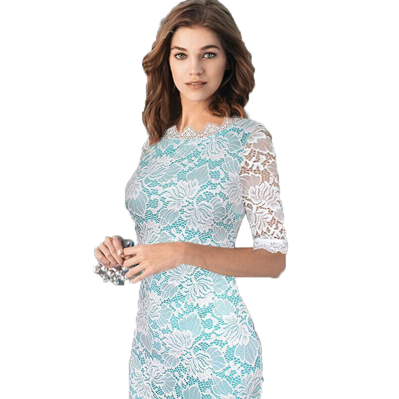 2019 Womens Elegant Dress Lace Crochet Hollow One Piece Dress Suit Pinup Party Evening Special Occasion Vestidos Club Sexy Dress