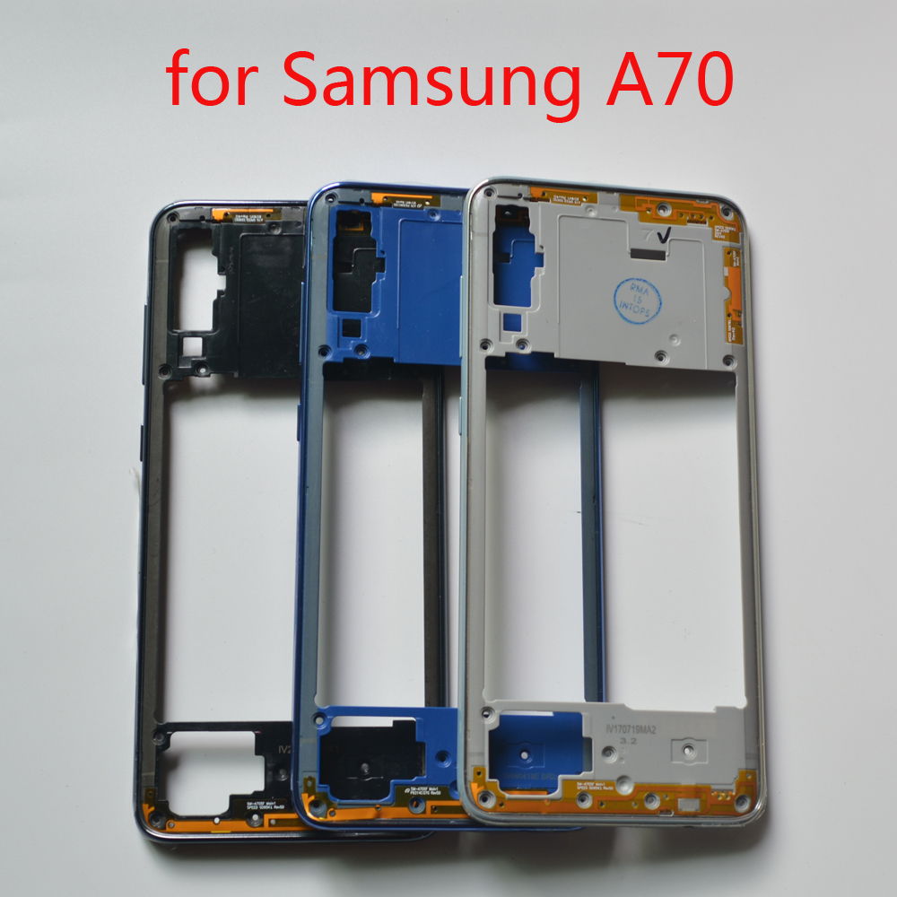 New Middle Frame For Samsung Galaxy A70 A705 A705F A705FN Original Phone Housing Center Chassis Case With Buttons + Tools