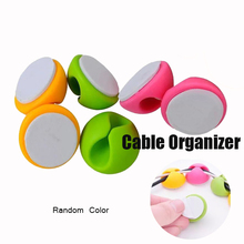 Silicone Black Cable Organizer Cable Holder Mouse Wire Holder 2 Pcs/Lot Desk Use Cable Management Charger Holder Cable winder цена и фото