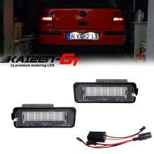 Lámparas LED blancas de xenón para matrícula de coche, luces para VW GOLF 4 6 Polo 9N Passat New Beetle Phaeton Rabbit CC etc 12V, 2 uds.