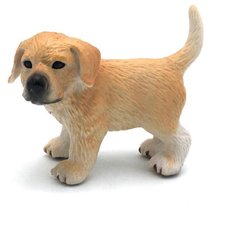 Модель животного, фигурка, украшение, имитация собаки, фигурка, игрушка, мини-модель животного, набор, домашние украшения для детей