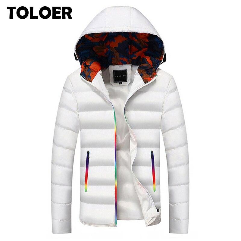 Горячая новинка 2020 брендовая куртка мужские зимние куртки модные повседневные тонкие толстые теплые пальто мужские хлопковые парки с капюшоном Мужские Casaco Masculino Парки      АлиЭкспресс